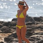 Britney Spears Wears a Yellow Bikini at the Beach in Hawaii 01/03/2018-2
