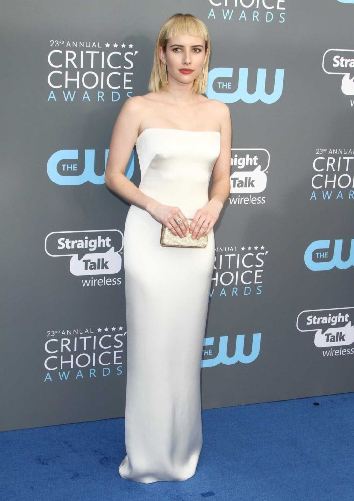 Emma Roberts at the 23rd Annual Critics' Choice Awards in Santa Monica 01/11/2018-1