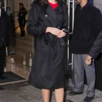 Gal Gadot Wears a Stylish Black Trench Coat Out in New York 01/09/2018-3
