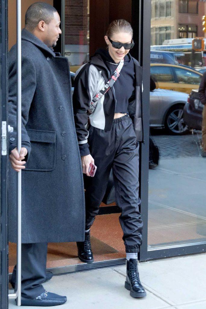 Gigi Hadid Leaves Prada Workout Gear in New York City 01/24/2018-1