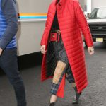 Gigi Hadid Wears a Red Coat Out in New York City 01/23/2018-4