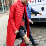 Gigi Hadid Wears a Red Coat Out in New York City 01/23/2018-5