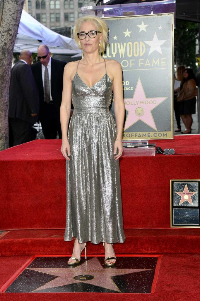 Gillian Anderson Honored with a Star on The Hollywood Walk of Fame in Hollywood 01/08/2018-1
