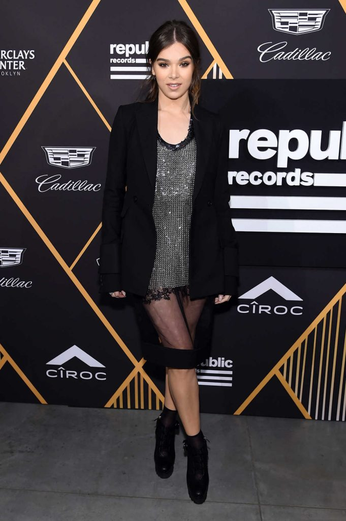 Hailee Steinfeld at Republic Records Grammy Awards Party at Cadillac House in NYC 01/26/2018-1