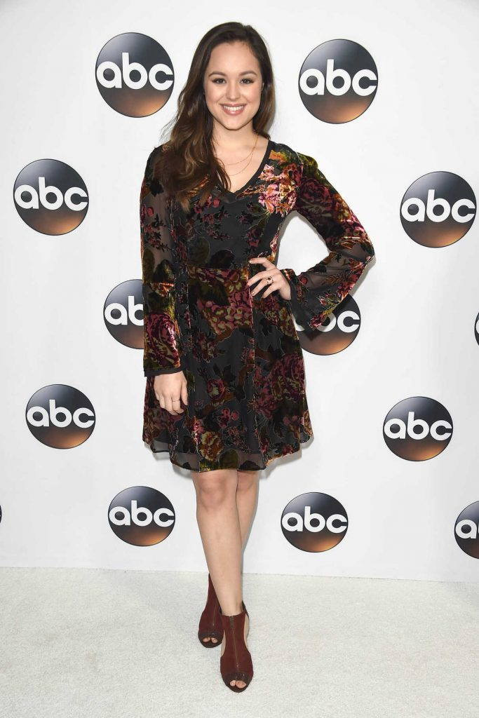 Hayley Orrantia at Disney ABC TCA Winter Press Tour in Pasadena 01/08/2018-1
