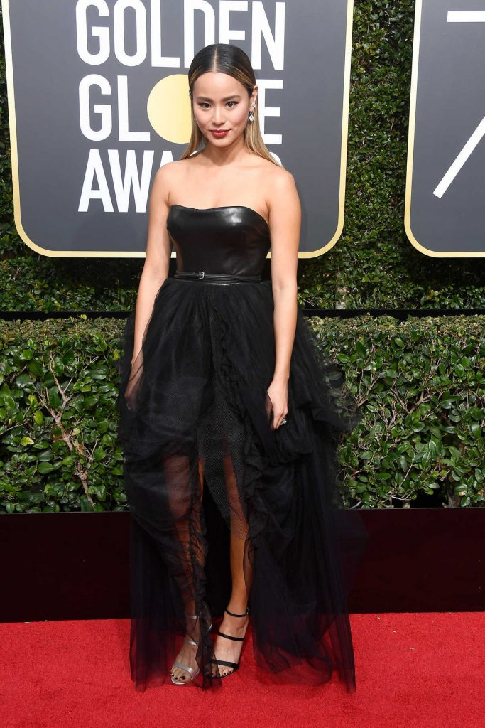 Jamie Chung at the 75th Annual Golden Globe Awards in Beverly Hills 01/07/2018-1