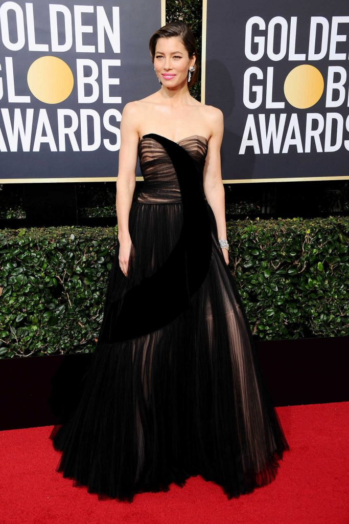 Jessica Biel at the 75th Annual Golden Globe Awards in Beverly Hills 01/07/2018-1