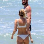 Miley Cyrus in Bikini at the Beach with Liam Hemsworth in Byron Bay, Australia 01/15/2018-6