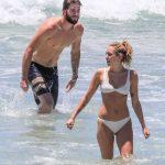 Miley Cyrus in Bikini at the Beach with Liam Hemsworth in Byron Bay, Australia 01/15/2018-7