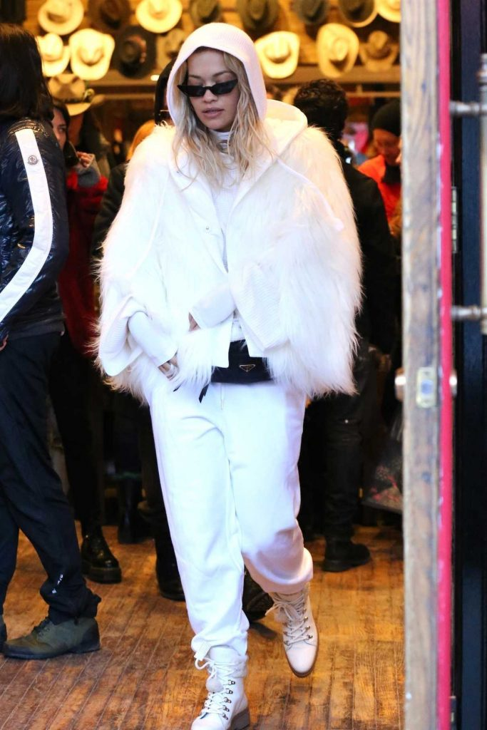 Rita Ora Goes Shopping in Aspen 01/01/2018-1
