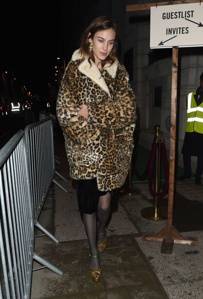 Alexa Chung Leaves the Ned Hotel in London 02/21/2018-1
