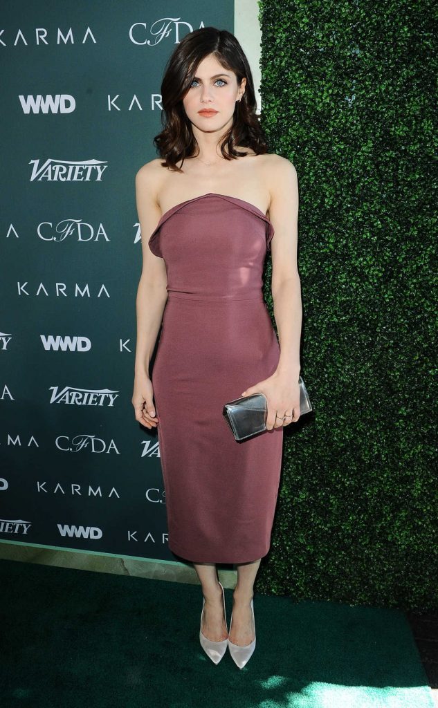 Alexandra Daddario at CFDA Variety and WWD Runway to Red Carpet in Los Angeles 02/20/2018-1