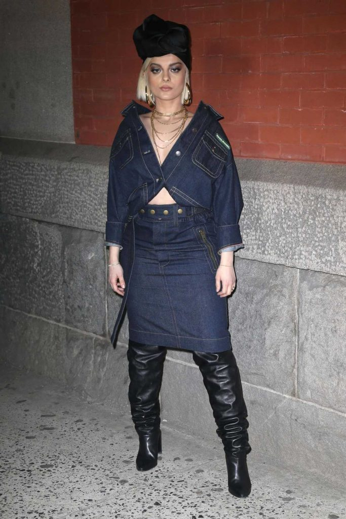 Bebe Rexha at the Marc Jacobs Fashion Show During New York Fashion Week in New York City 02/14/2018-1