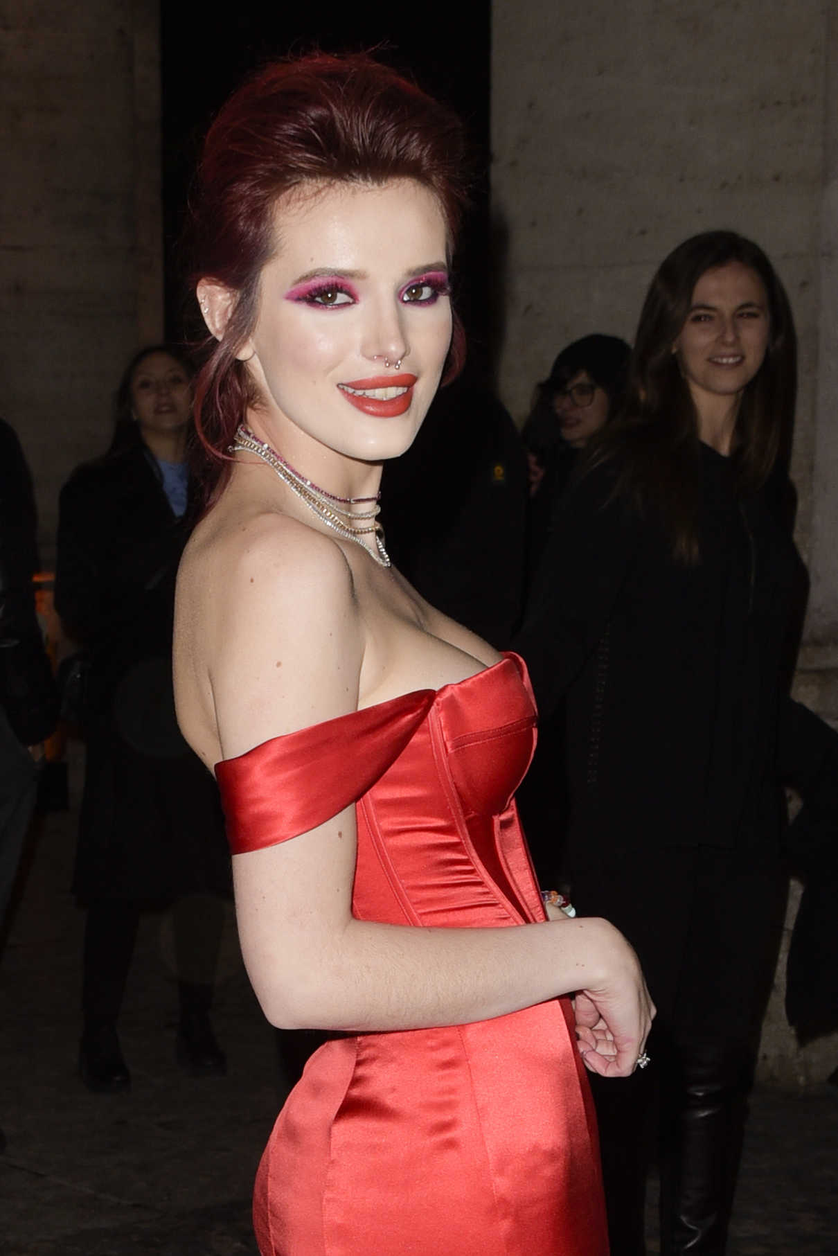 Bella Thorne at the Midnight Sun Premiere at the Space Moderno Cinema in Rome 02/27/2018-5