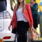 Elizabeth Olsen Shops for Groceries at Trader Joes in Los Feliz 02/01/2018-2