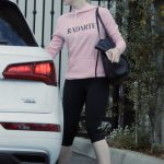 The 19-year-old actress Elle Fanning out for a gym session in Los Angeles.-4
