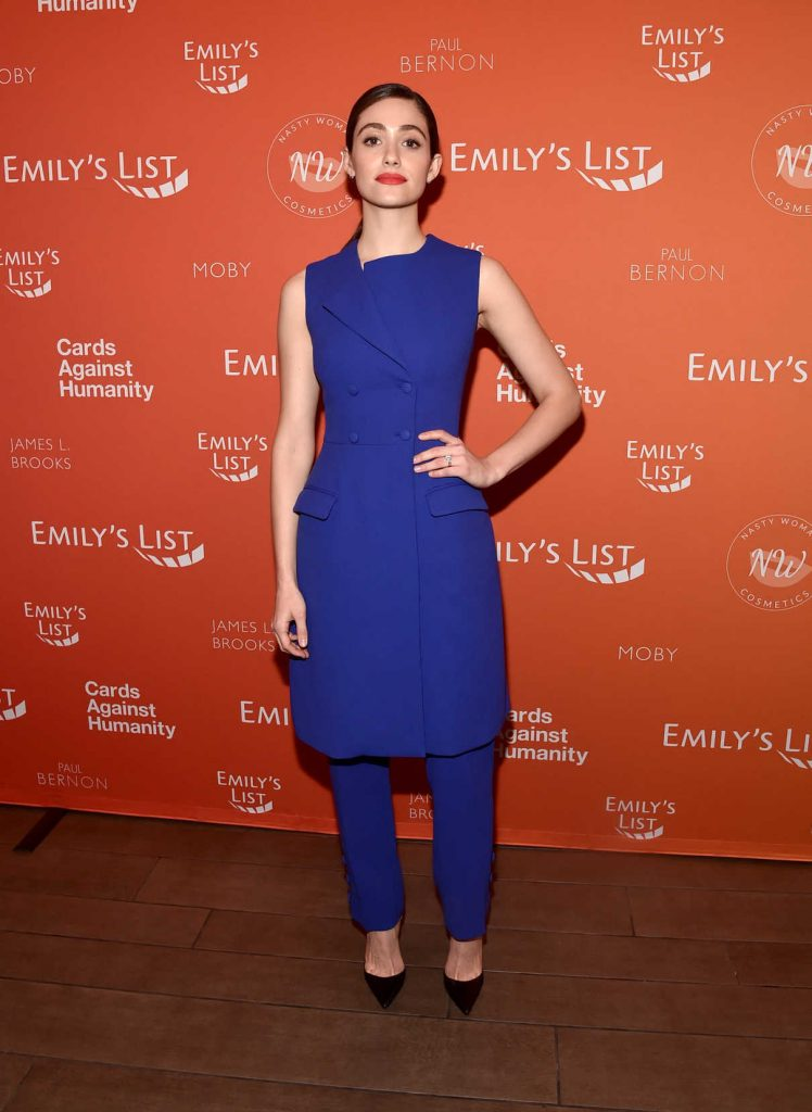 Emmy Rossum Attends EMILY's List Pre-Oscars Brunch and Panel in Los Angeles 02/27/2018-2
