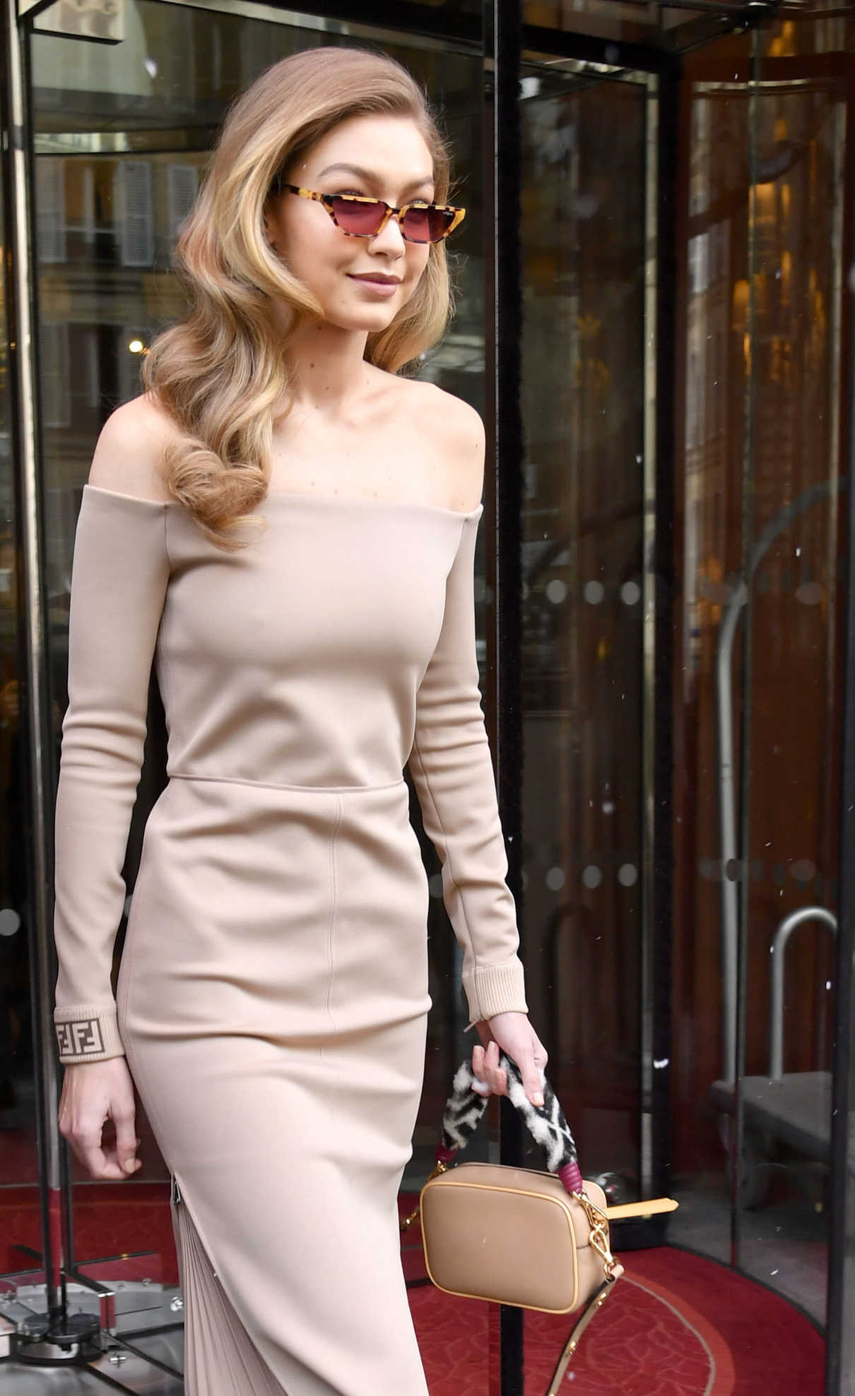 Gigi Hadid Leaves Le Royal Monceau Raffles Hotel in Paris 02/27/2018-4