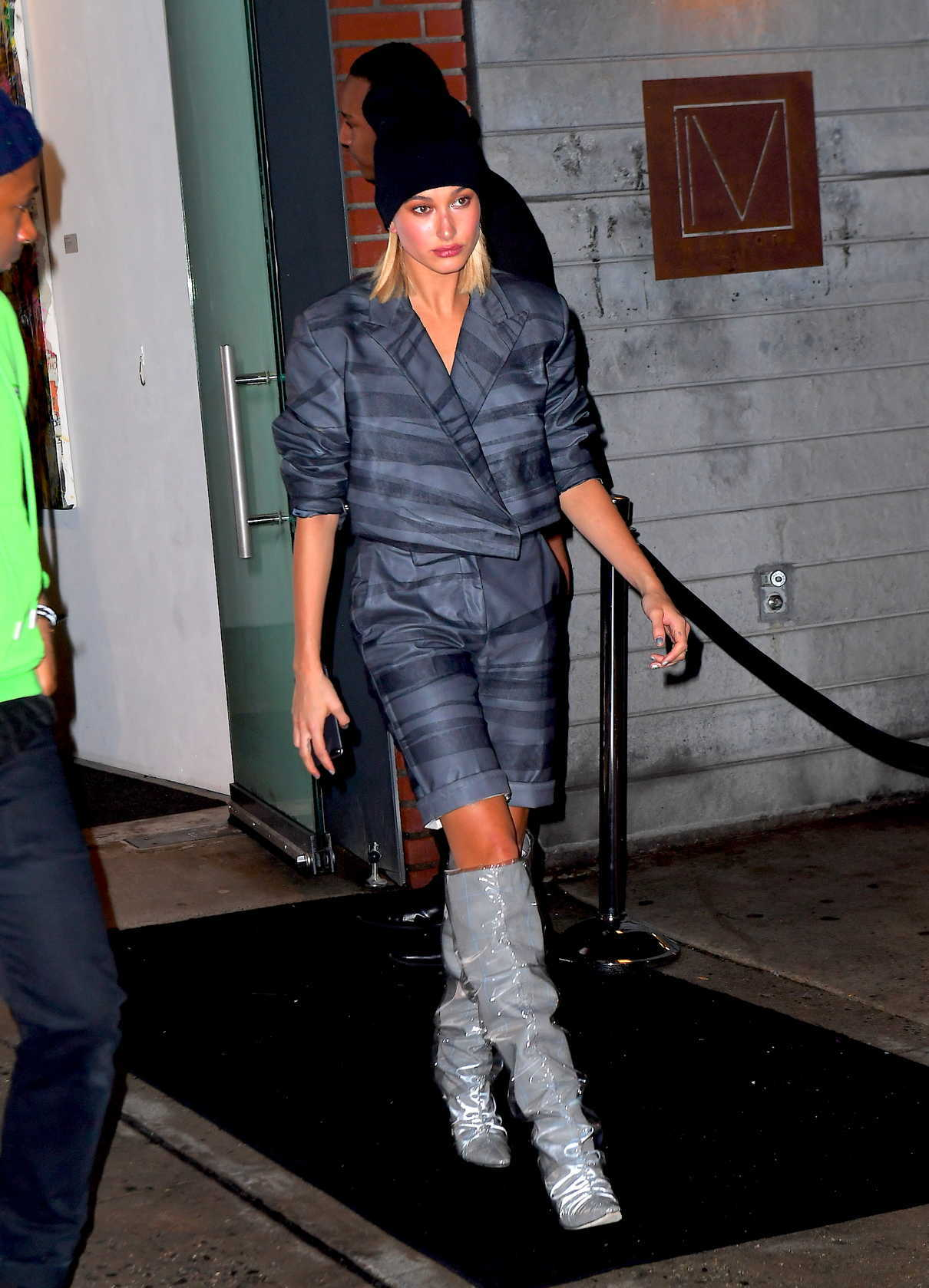 Hailey Baldwin Leaves Jimmy Choo Dinner's During New York Fashion Week in New York City 02/11/2018-3