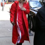 Hailey Baldwin Wears All Red Out in NYC 02/08/2018-5