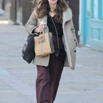 Keira Knightley Wears a Burberry Coat in North London 02/03/2018-2