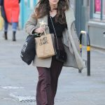 Keira Knightley Wears a Burberry Coat in North London 02/03/2018-3