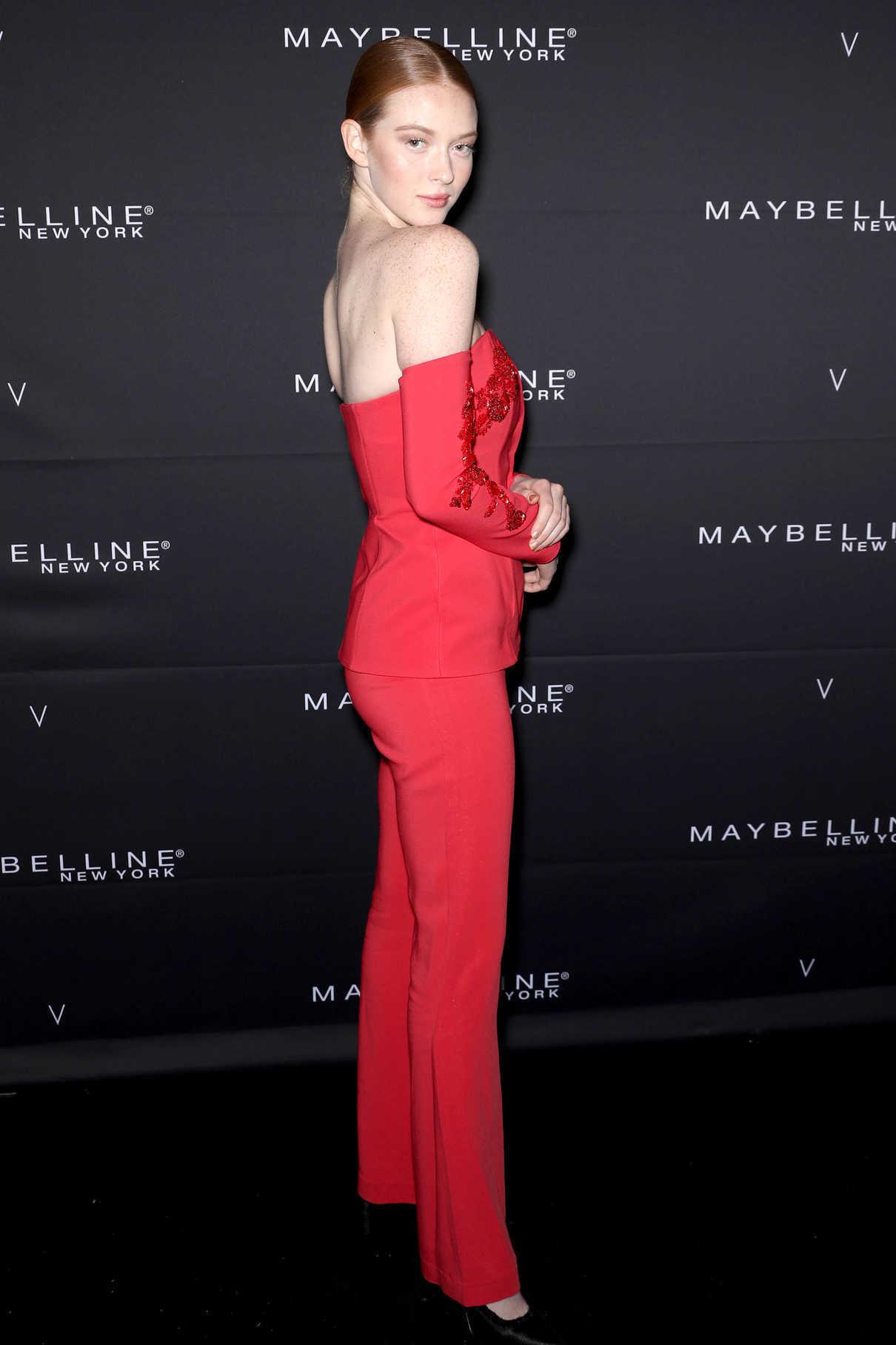 Larsen Thompson at the Maybelline New York x V Magazine Party During New York Fashion Week 02/11/2018-2
