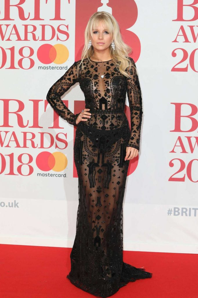 Lottie Moss Attends the 2018 Brit Awards at the O2 Arena in London 02/21/2018-1
