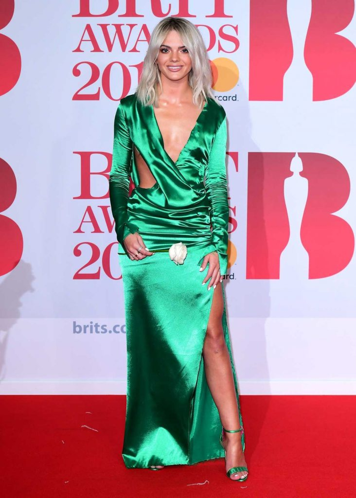 Louisa Johnson Attends the 2018 Brit Awards at the O2 Arena in London 02/21/2018-1