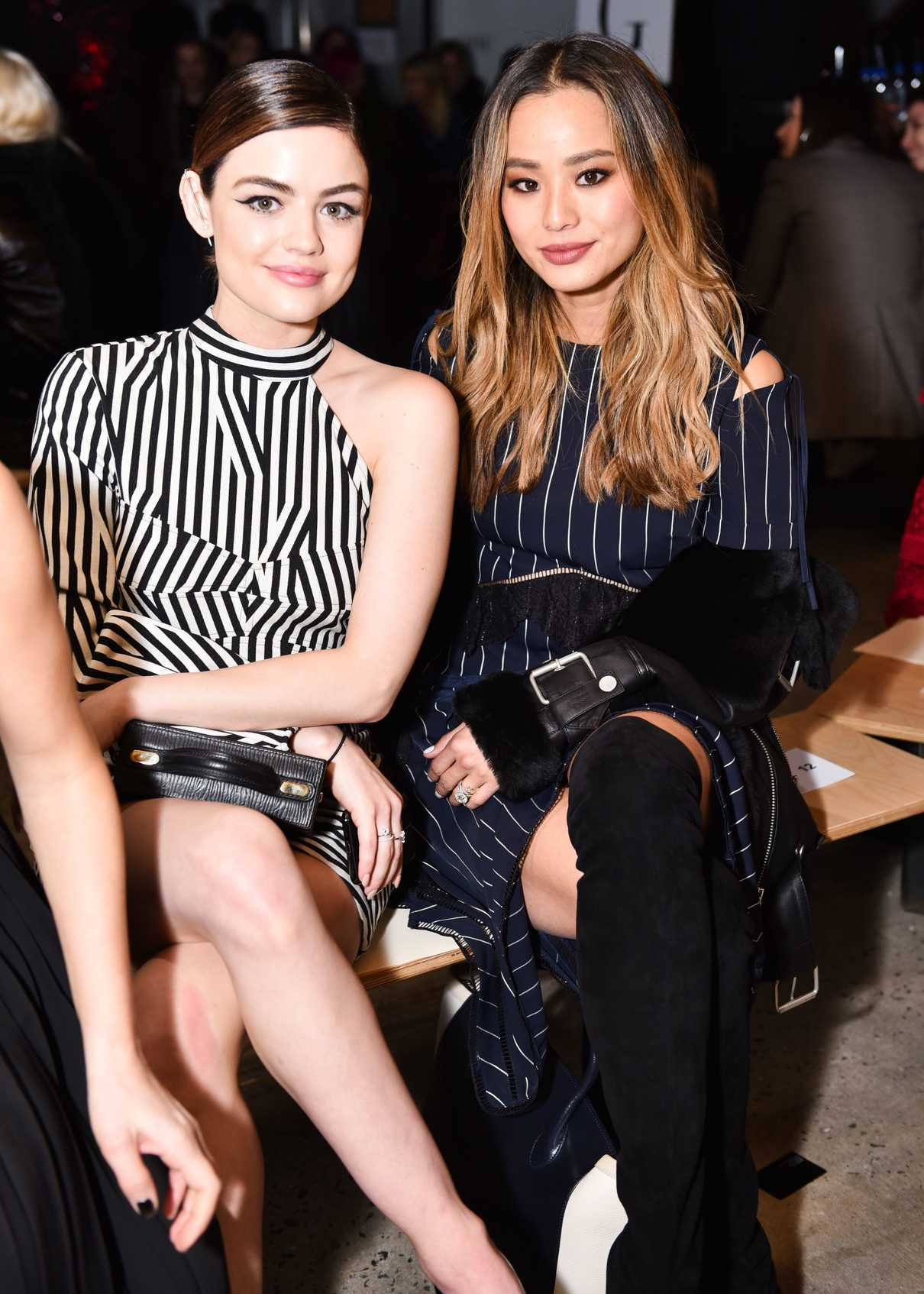 Lucy Hale at the Fiji Water at Self Portrait Show During New York Fashion Week in New York City 02/10/2018-4