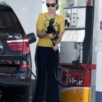 Olivia Wilde Wears a Yellow Blouse at a Gas Station in Los Angeles 02/12/2018-2