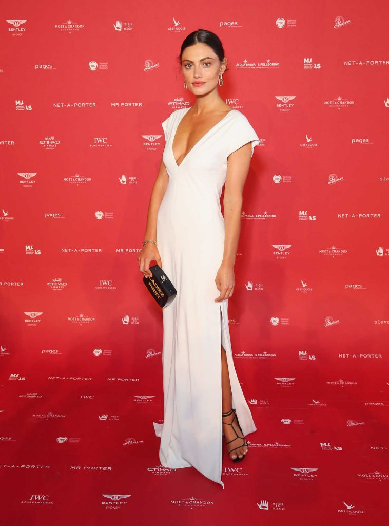 Phoebe Tonkin at Museum of Applied Arts and Sciences Centre for Fashion Ball at Powerhouse Museum in Sydney 02/01/2018-1