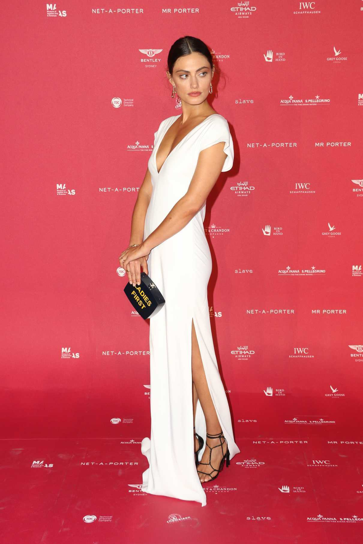 Phoebe Tonkin at Museum of Applied Arts and Sciences Centre for Fashion Ball at Powerhouse Museum in Sydney 02/01/2018-3