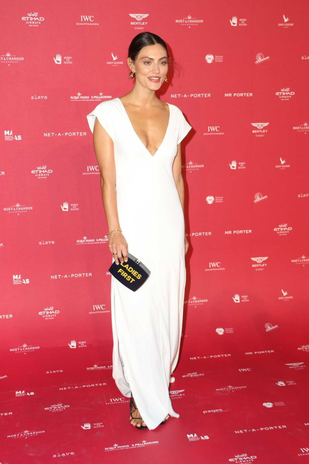 Phoebe Tonkin at Museum of Applied Arts and Sciences Centre for Fashion Ball at Powerhouse Museum in Sydney 02/01/2018-4