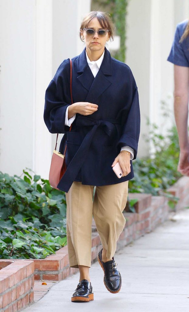 Rashida Jones Shops on Melrose Place in West Hollywood 02/10/2018-1