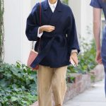 Rashida Jones Shops on Melrose Place in West Hollywood 02/10/2018-2
