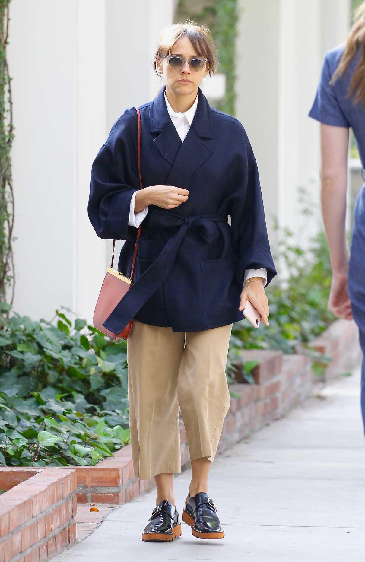 Rashida Jones Shops on Melrose Place in West Hollywood 02/10/2018-2