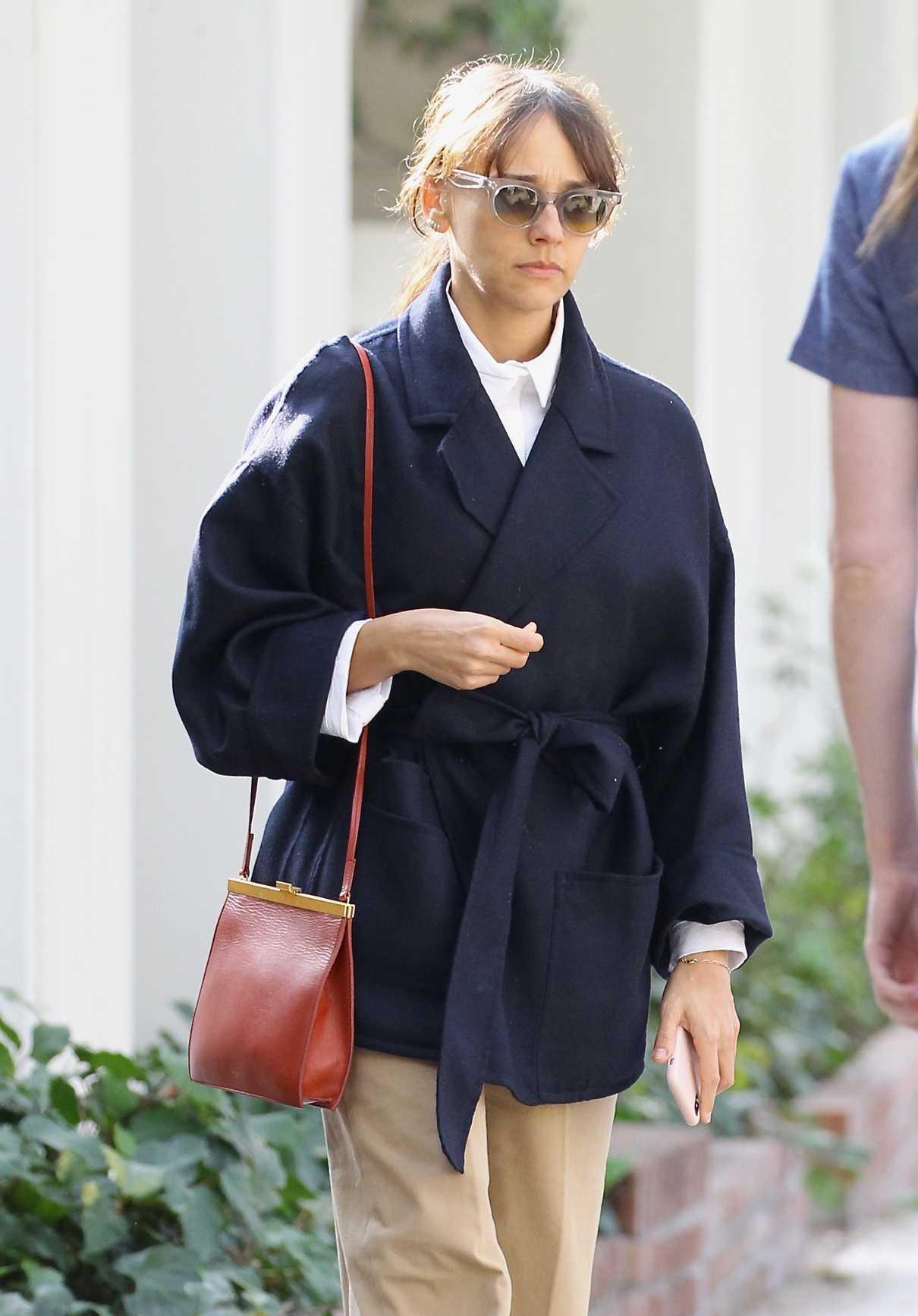 Rashida Jones Shops on Melrose Place in West Hollywood 02/10/2018-5