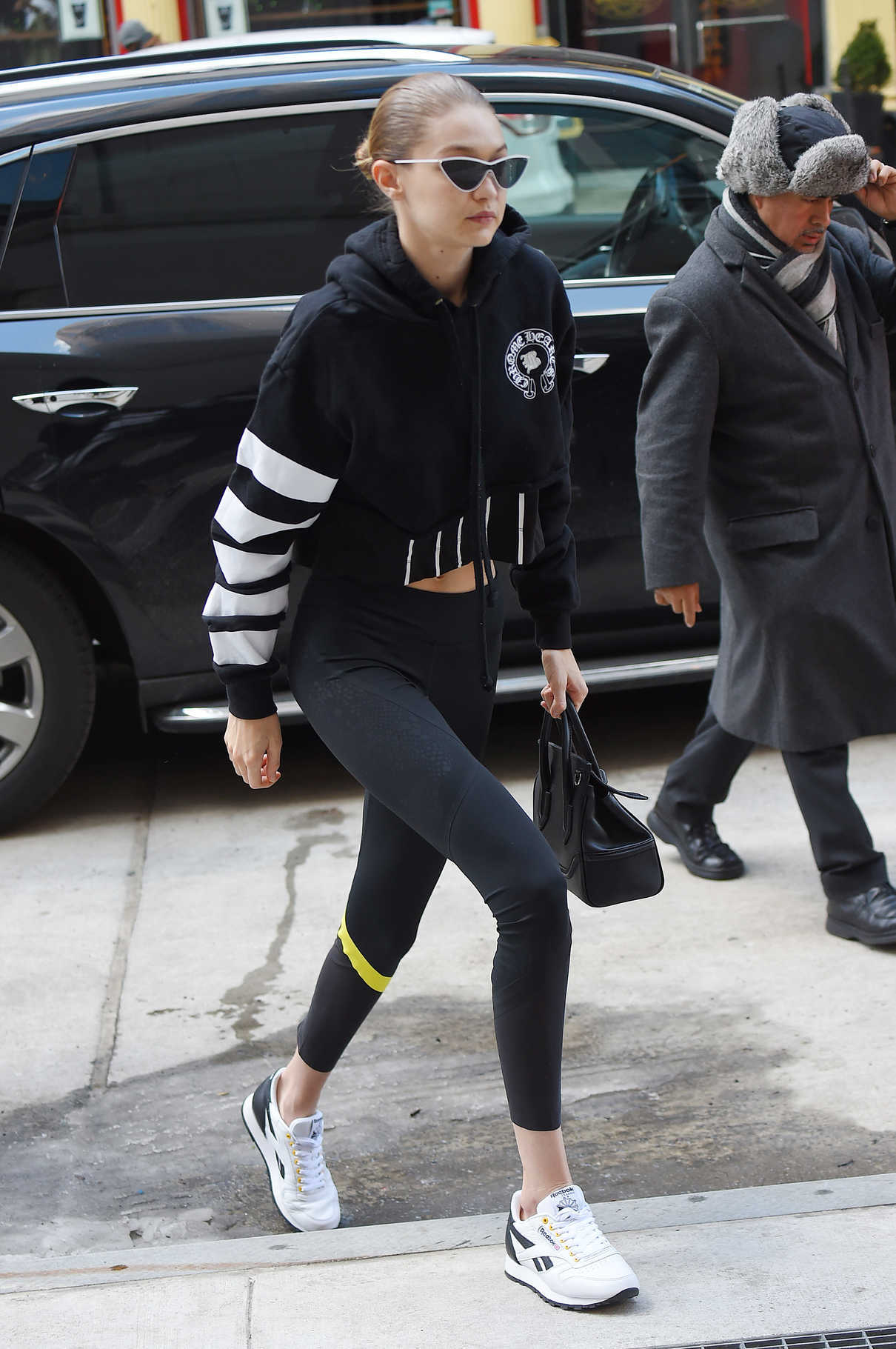 Gigi Hadid Was Spotted with a Versace Bag Out in NYC 03/09/2018-4