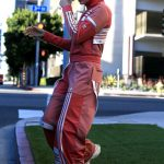 Hailey Baldwin Wears Adidas Track Suit as She Goes Shopping at Barneys NY in Beverly Hills 03/23/2018-2
