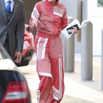 Hailey Baldwin Wears Adidas Track Suit as She Goes Shopping at Barneys NY in Beverly Hills 03/23/2018-4