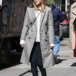 Kate Mara Wears a Plaid Coat Out in New York City 03/17/2018-2