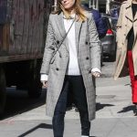 Kate Mara Wears a Plaid Coat Out in New York City 03/17/2018-3