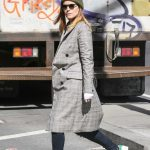 Kate Mara Wears a Plaid Coat Out in New York City 03/17/2018-4