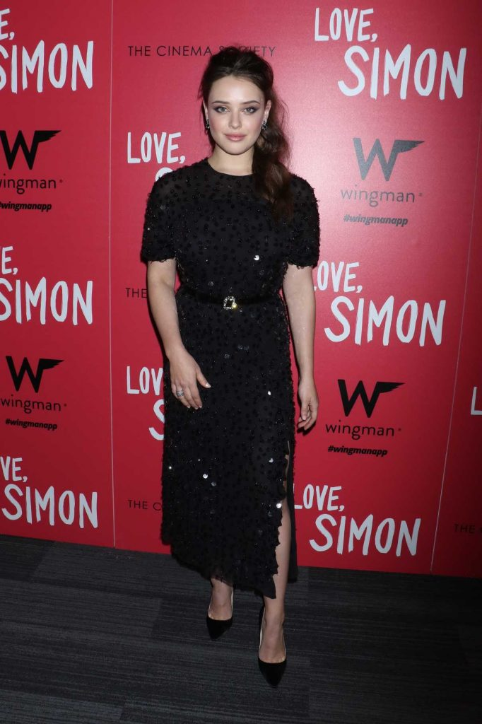 Katherine Langford at the Love, Simon Premiere in New York 03/08/2018-1