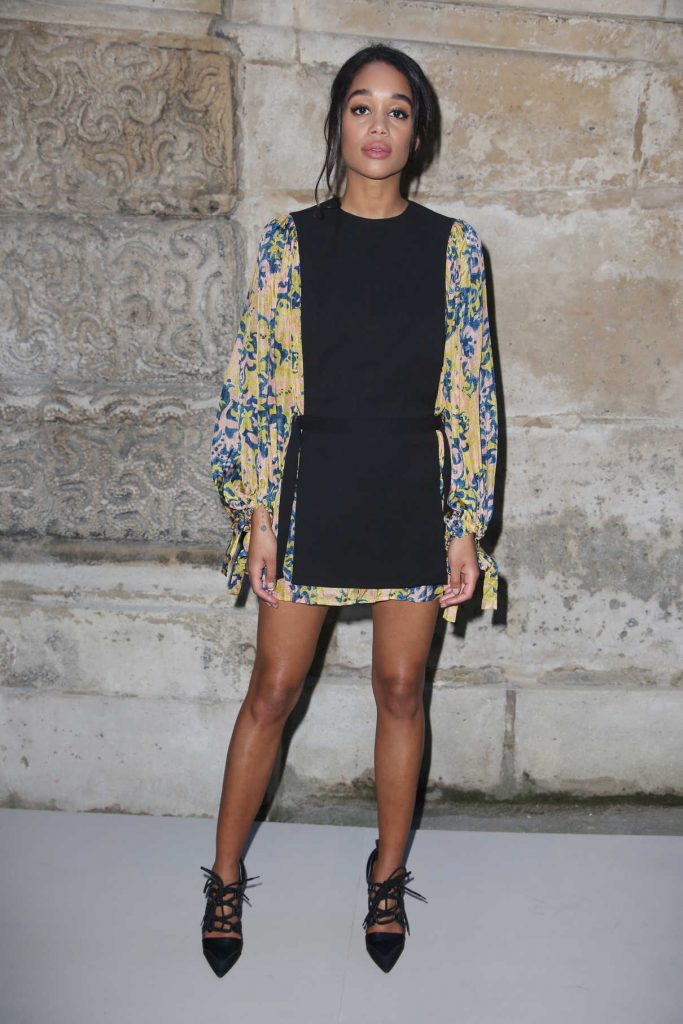 Laura Harrier at the Louis Vuitton Show During the Paris Fashion Week in Paris 03/06/2018-1