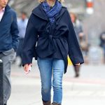 Naomi Watts Wears a Blue Jeans Out in NYC 03/28/2018-2
