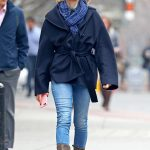 Naomi Watts Wears a Blue Jeans Out in NYC 03/28/2018-3