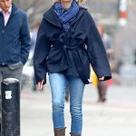 Naomi Watts Wears a Blue Jeans Out in NYC 03/28/2018-4