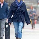 Naomi Watts Wears a Blue Jeans Out in NYC 03/28/2018-5